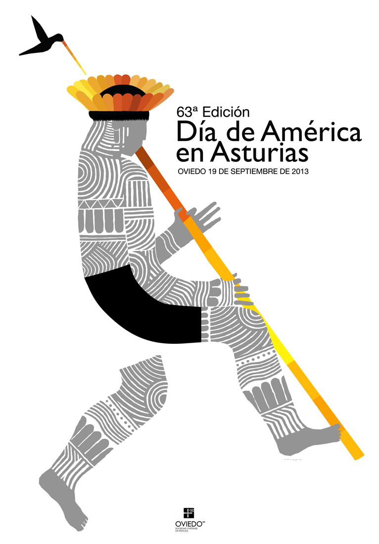 America Day in Asturias Poster 2013.