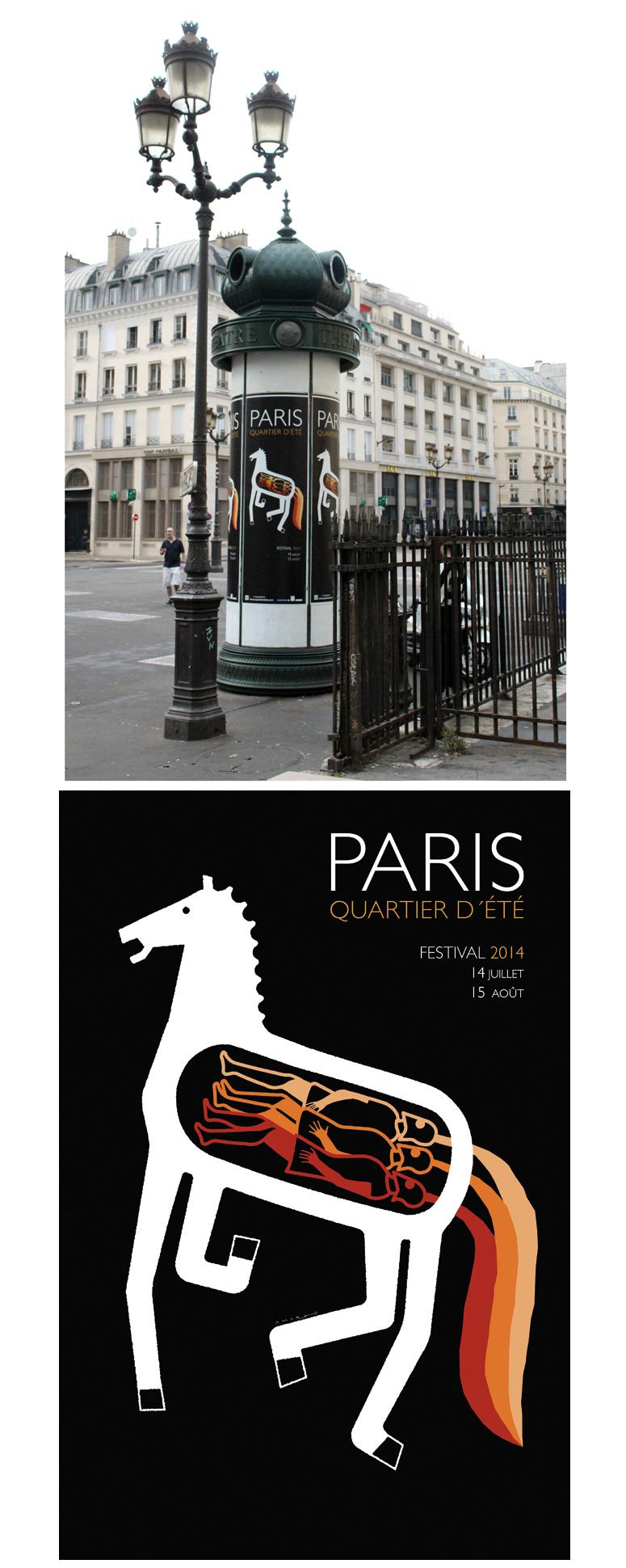 Poster 'Paris, Quartier D´été 2014'.